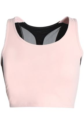 SÀPOPA Cutout two-tone stretch sports bra