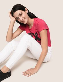ARMANI EXCHANGE DESTROYED WHITE SUPER-SKINNY JEANS Skinny jeans Woman a