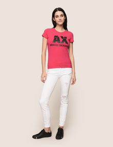 ARMANI EXCHANGE DESTROYED WHITE SUPER-SKINNY JEANS Skinny jeans Woman d