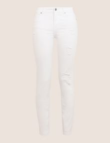 ARMANI EXCHANGE DESTROYED WHITE SUPER-SKINNY JEANS Skinny jeans Woman r
