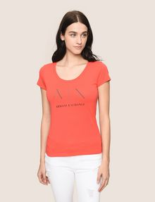 ARMANI EXCHANGE T-SHIRT CON LOGO E PERLINE T-shirt con logo [*** pickupInStoreShipping_info ***] f