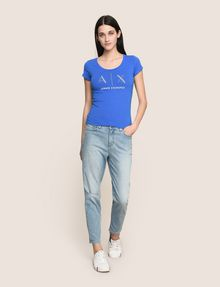 ARMANI EXCHANGE T-SHIRT CON LOGO E PERLINE T-shirt con logo Donna d