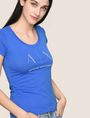 ARMANI EXCHANGE T-SHIRT CON LOGO E PERLINE T-shirt con logo Donna a