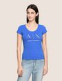 ARMANI EXCHANGE T-SHIRT CON LOGO E PERLINE T-shirt con logo Donna f