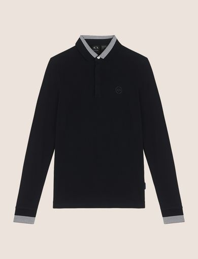 ARMANI EXCHANGE LONG SLEEVES POLO Man R