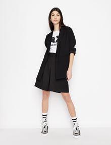 ARMANI EXCHANGE SLASHED STUD LOGO TEE Logo T-shirt Woman d
