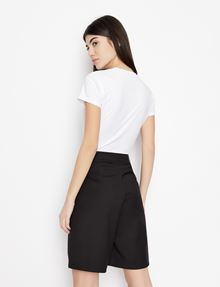 ARMANI EXCHANGE SLASHED STUD LOGO TEE Logo T-shirt Woman e
