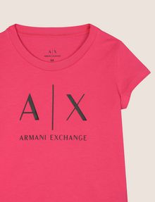 ARMANI EXCHANGE GIRLS CLASSIC LOGO TEE Logo T-shirt Woman d