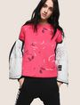 ARMANI EXCHANGE FLORAL CONFETTI SWEATSHIRT TOP Fleece Top Woman a