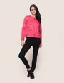 ARMANI EXCHANGE FLORAL CONFETTI SWEATSHIRT TOP Fleece Top Woman d