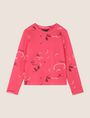 ARMANI EXCHANGE FLORAL CONFETTI SWEATSHIRT TOP Fleece Top Woman r
