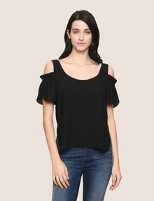 ARMANI EXCHANGE SPLIT SLEEVE COLD-SHOULDER BLOUSE S/S Woven Top Woman f