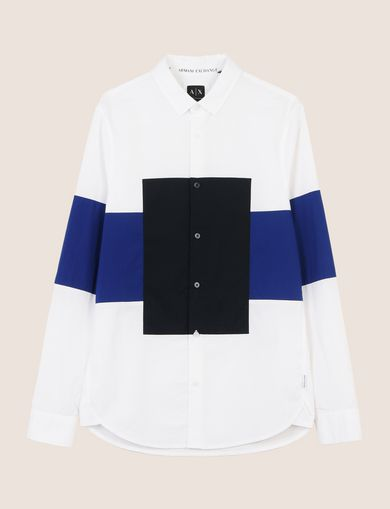 COLORBLOCK RECTANGLE SLIM-FIT SHIRT