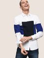 ARMANI EXCHANGE COLORBLOCK RECTANGLE SLIM-FIT SHIRT Long sleeve shirt Man a