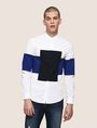 ARMANI EXCHANGE COLORBLOCK RECTANGLE SLIM-FIT SHIRT Long sleeve shirt Man f