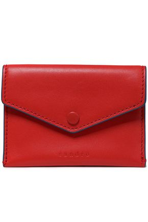 SANDRO Leather cardholder