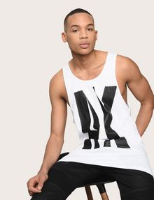 ARMANI EXCHANGE NEGATIVE SPACE RELAXED TANK Logo Tanks Man a