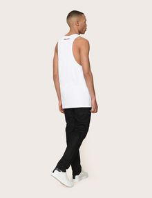 ARMANI EXCHANGE NEGATIVE SPACE RELAXED TANK Logo Tanks Man e