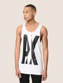 ARMANI EXCHANGE NEGATIVE SPACE RELAXED TANK Logo Tanks Man f