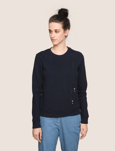 MADE IN ITALY STAR STUD SWEATSHIRT TOP