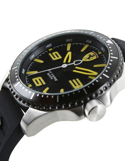 XX Kers Scuderia Ferrari watch in black with yellow details