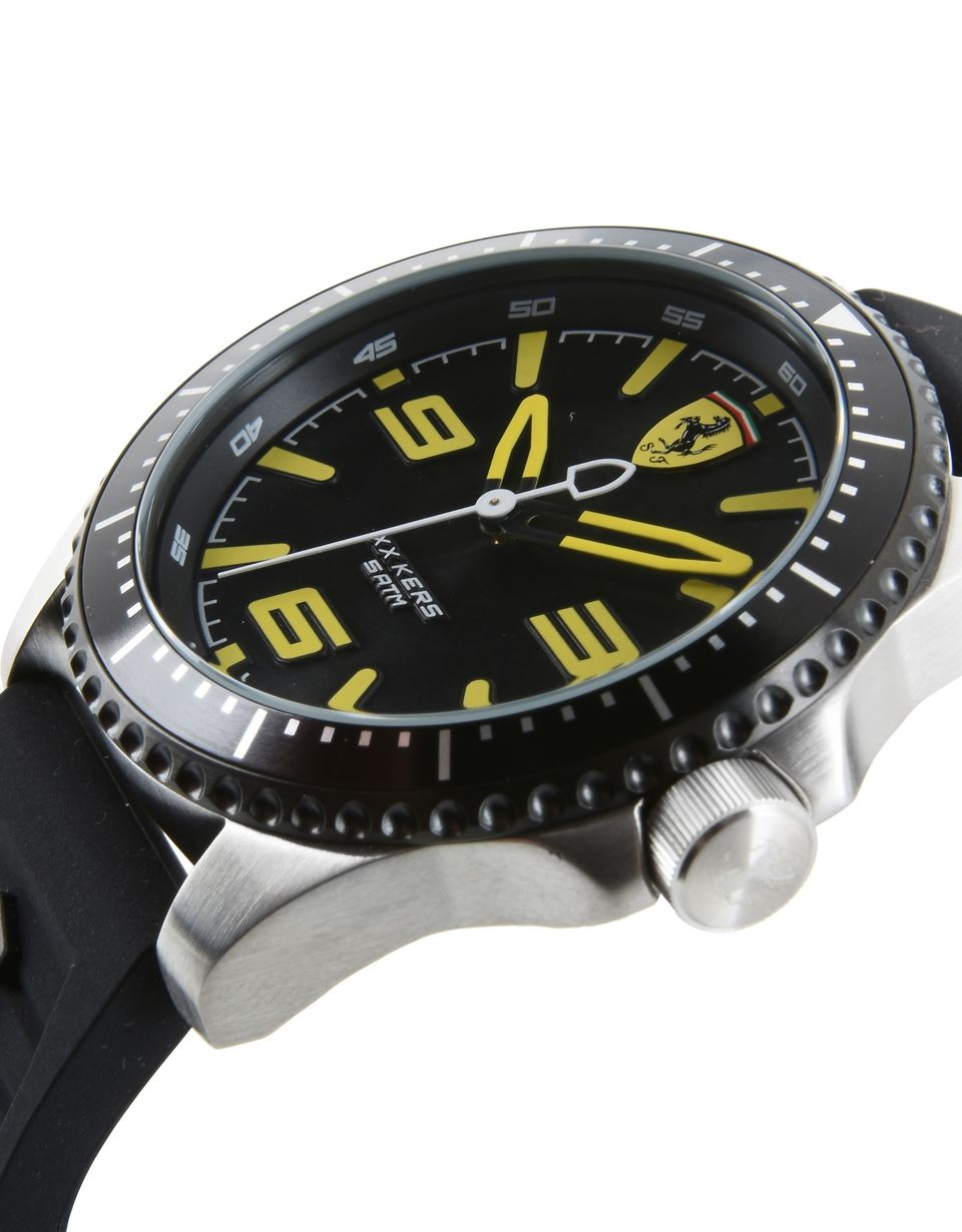 Scuderia Ferrari Online Store - XX Kers Scuderia Ferrari watch in black with yellow details - Quartz Watches