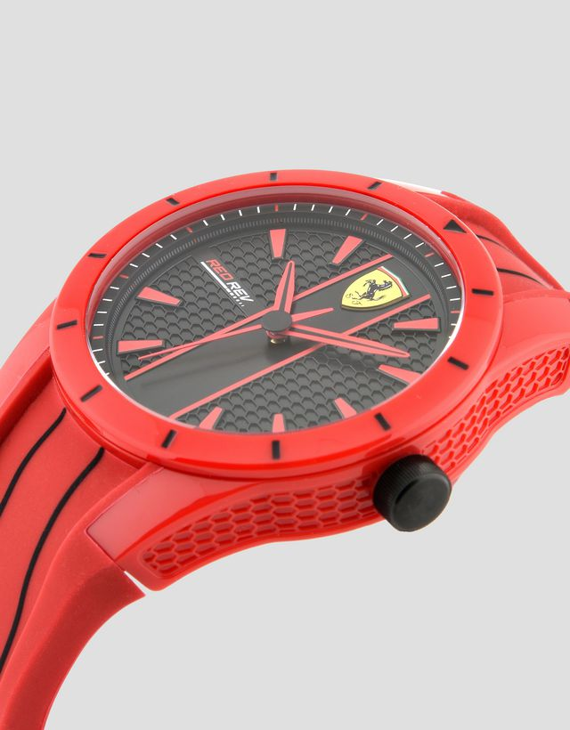 black scuderia rev red watches ferrari men watch s silicone