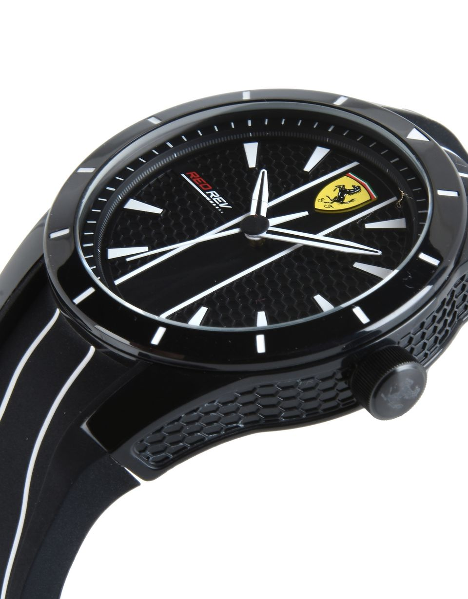 Scuderia Ferrari Online Store - RedRev quartz watch in black with white details - Quartz Watches