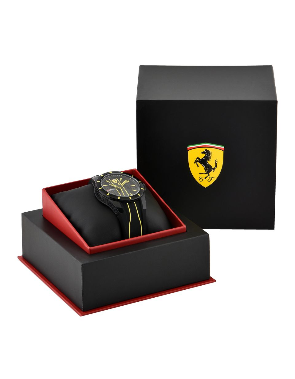 Scuderia Ferrari Online Store - RedRev watch in black with yellow details - Quartz Watches