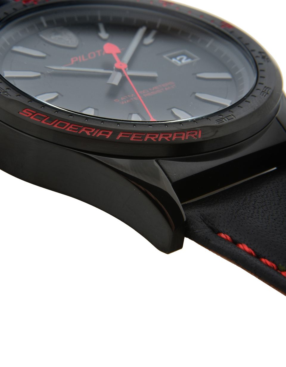 Scuderia Ferrari Online Store - Scuderia Ferrari Pilota watch in black - Quartz Watches