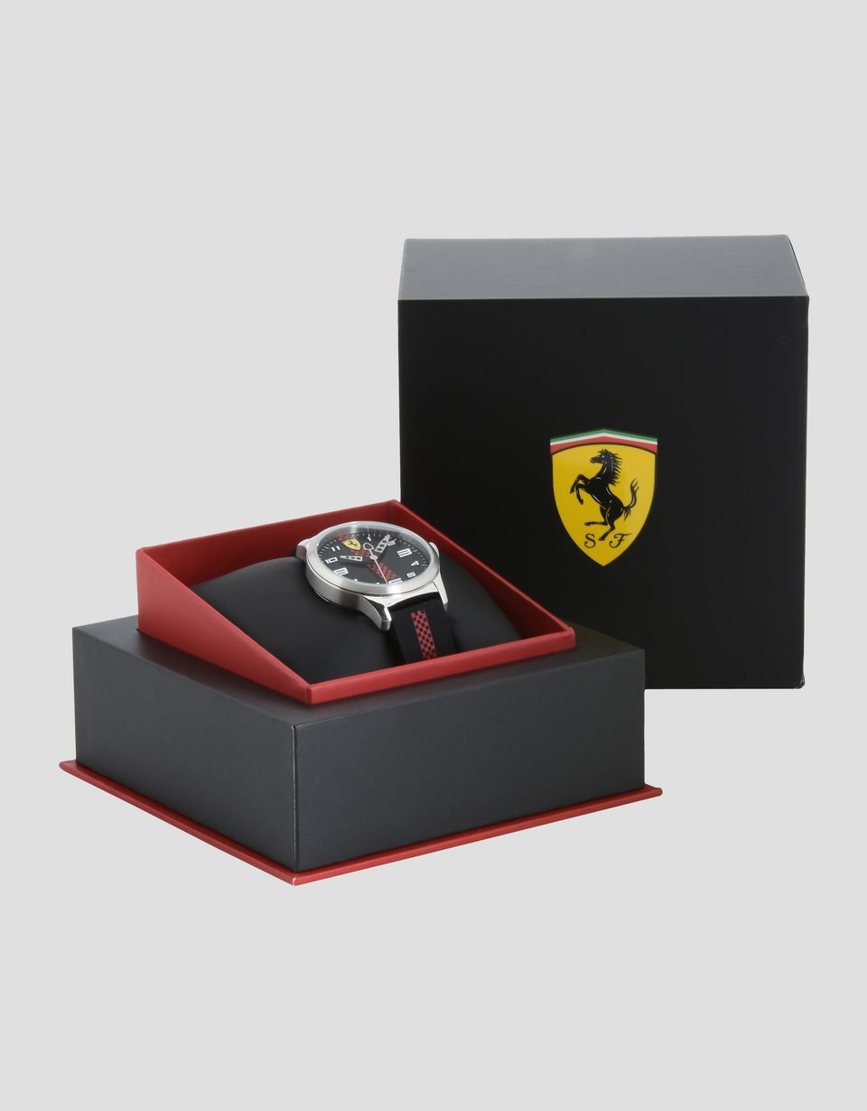 xx kids watch auto idee scuderia steel price carbon yellow chronograph fibre ferrari bild