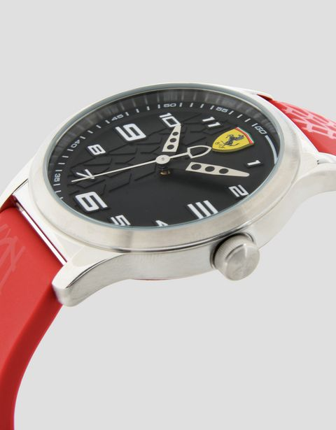 Pitlane watch for teens with black dial
