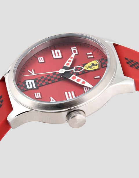 Pitlane watch for teens in red