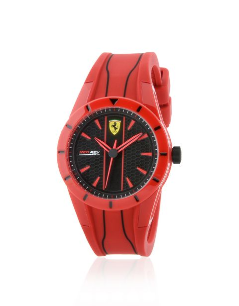 RedRev quartz watch in red with black dial