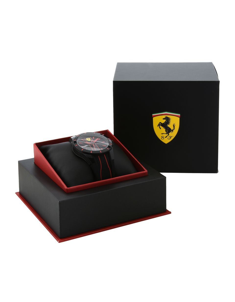 Scuderia Ferrari Online Store - RedRev quartz watch in black with red details - Quartz Watches