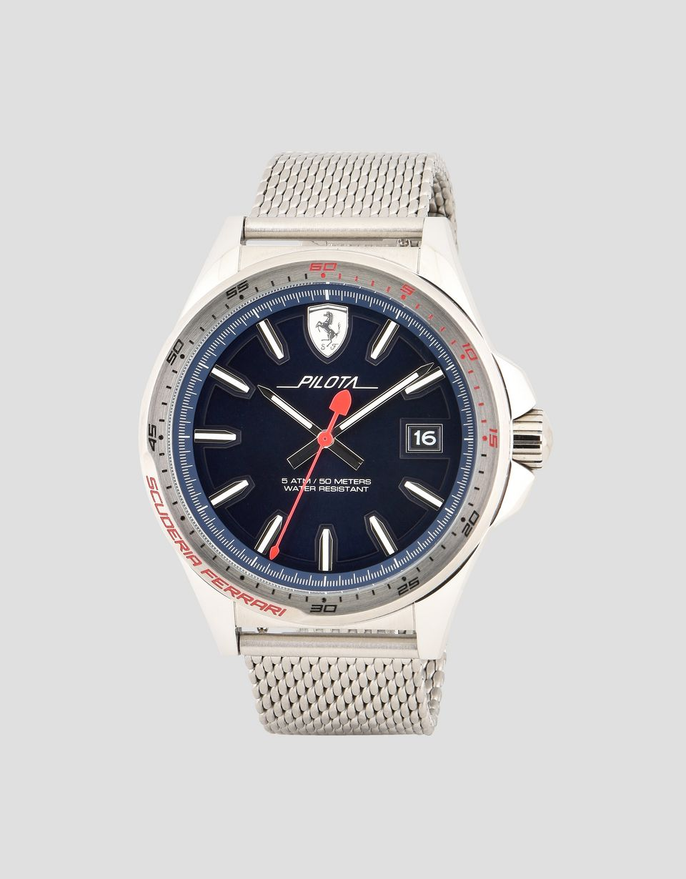 Scuderia Ferrari Online Store - Pilota watch with blue dial - Quartz Watches