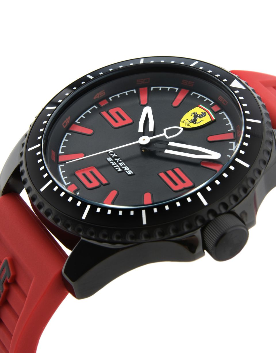 stainless casual watch amazon black color com men s steel dp silicone quartz ferrari and scuderia model watches kids