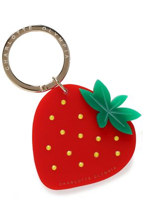 CHARLOTTE OLYMPIA Crystal-embellished resin keychain