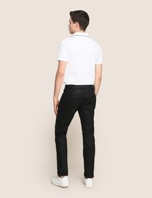 ARMANI EXCHANGE SLIM-FIT COATED MOTO JEANS Slim fit JEANS Man e