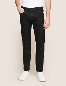 ARMANI EXCHANGE SLIM-FIT COATED MOTO JEANS Slim fit JEANS Man f