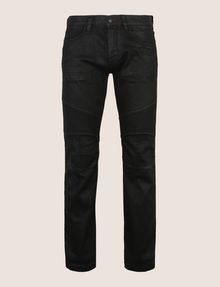 ARMANI EXCHANGE SLIM-FIT COATED MOTO JEANS Slim fit JEANS Man r