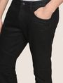 ARMANI EXCHANGE SLIM-FIT COATED MOTO JEANS Slim fit JEANS Man b