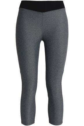 SÀPOPA Cropped mélange stretch leggings