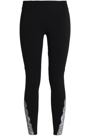 SÀPOPA Crochet-trimmed stretch leggings