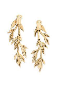 ALBERTA FERRETTI Clip-on foliage earrings Earrings D d