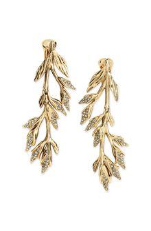 ALBERTA FERRETTI Clip-on foliage earrings Earrings D f