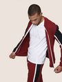ARMANI EXCHANGE PIECED COLORBLOCK TRACK JACKET Fleece Jacket [*** pickupInStoreShippingNotGuaranteed_info ***] a