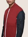 ARMANI EXCHANGE PIECED COLORBLOCK TRACK JACKET Fleece Jacket [*** pickupInStoreShippingNotGuaranteed_info ***] b
