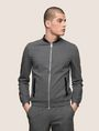 ARMANI EXCHANGE FAUX-LEATHER BOMBER JACKET Fleece Jacket Man f