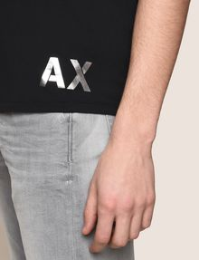 ARMANI EXCHANGE OVERSIZED LOGO YOKE TEE Logo T-shirt [*** pickupInStoreShippingNotGuaranteed_info ***] b
